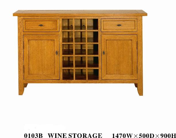 Algrove Buffet With Wine Rack Bf 0103b